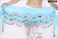 belly dance scarf wholesale - 9 Colors Belly Egypt Dance Hip Skirt Scarf Wrap Belt Costume SCH