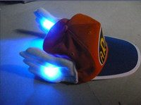 Wholesale baby hat glowing LED lights the trend of the personality hats caps multicolored Hats