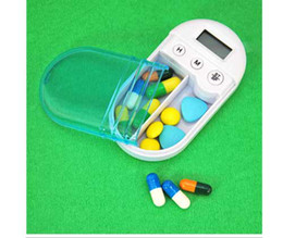 Wholesale Digital Medicine Pill Box LCD Timer Alarm Reminder Mode