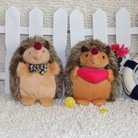 Wholesale Cute Hedgehogs Doll - Stuffed Toys 18cm Hedgehog Doll Cute Lovers Plush Toys
