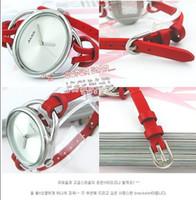 digital watches - 200pcs Hottest Fashion Leather Strap Wrist Quartz Digital Watch Watches colours Available