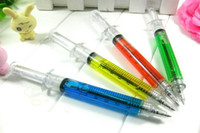Wholesale Mix COLORS Syringe pen Ball point pen promotion Gift pens Christmas Gift