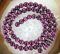 al por mayor cuentas de piedras preciosas de color púrpura-Perla floja redonda de la piedra preciosa del ópalo púrpura mexicana 15inch 8m m, 10m m