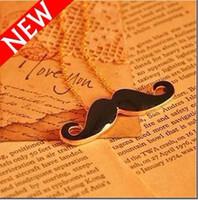 best moustaches - Vintage Black Beard Cosplay Moustache Pendant Necklaces Black Alloy Chain Necklace Best Gifts