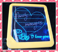Wholesale LED light message board romantic writing board wordPad displaying board gifts Retail