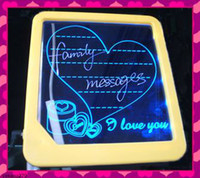 Wholesale 20pcs LED light message board romantic writing board wordPad displaying board gifts