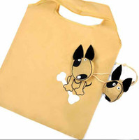 Wholesale 2012 Fashion Promotonal Gift Cartoon Cute Dog Shape Foldable green bags Blue in stock piece