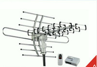 Wholesale HOT Remote Control HDTV Outdoor Antenna UHF VHF FM Degree Rotation PC