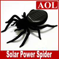 Black big robot toys - Black Solar Spider Science amp Nature Educational Learning Toys Solar Powered Robot Christmas gift