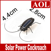 Wholesale Mini Solar Energy Toy Solar Power Cockroach Robot Insect Bug Educational for kids gift