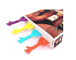 Wholesale help me cartoon novelty hand shape bookmarks paper clip office school