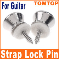 Wholesale Silver Metal Strap Lock pin button For Electric Acoustic Guitar Bass I48S