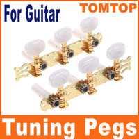 Wholesale 2pcs set Guitar Accessories Gilding Classical Guitar Tuning Pegs Keys Machine Heads Tuner I49