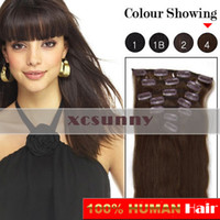 Wholesale 15 quot quot quot g Clip in Hair Extensions Luxy Remy Human Hair Extension set CE23