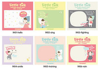 Wholesale self adhesive cartoon little girl Notepad Memo pads Paper Scratch message Fashion sticky sticker