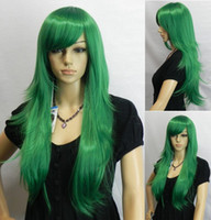 Wholesale GREEN Long Fashion Hot Sale Cosplay Wig party wig mix order