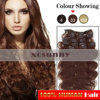 Wholesale 15 quot quot quot g Clip in Hair Extensions Luxy Remy Human Hair Extension set CE37
