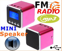 Wholesale Digital Sound box Mini speaker for mp3 mp4 USB Disk Micro SD TF Card FM Radio Line In Free EMS