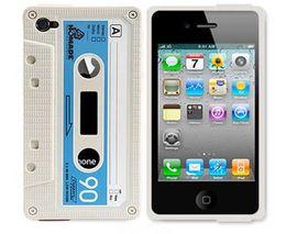 Wholesale White Tape Cassette iTape Deck Cassette Tape Cover Retro Cassette Tape Case case for phone