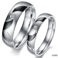 Wholesale 316L stainless steel couple rings fashion rings for lovers