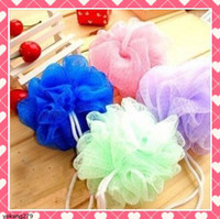 Wholesale 50pcs Bath Brushes Sponges Scrubbers Colorful Soft and comfortable Bathroom Ball