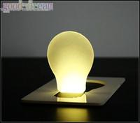 Wholesale 50pcs Portable Pocket LED Card Lamp light DOULEX mini nightlight wallet purse