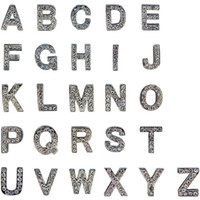 Wholesale 10mm Crystal Block Letter Slide Charm A Z DIY Alphabet Slider For Personalized Dog Pet Name Collar