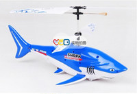 Wholesale The latest shark remote control aircraft gyroscope RC helicopter remote control toys electric toy