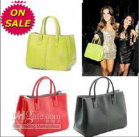 Wholesale On sale Faux Leather Women s Tote Shoulder Bags Handbag Red Brown Pastel Pink Beige Korea tote xfg