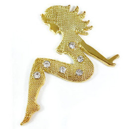 30PCS LOT 3D Metal Stickers For Car Gold and Silver Mermaid funny bumper stickers Cool car stickers