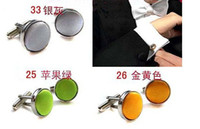 Men's Silver Stainless Steel 10pairs Fashion Silk Cloth French Cufflinks Mens Stainless Steel Casual Shirt Dress Cuff Links