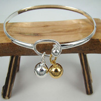 Wholesale Babies Bells bangle gift jewelry silver bracelet sterling silver hot sell baby gift jewelry