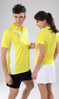 Wholesale Badminton wear badminton shirt New Victor A215 B215 sets shirt short skirt