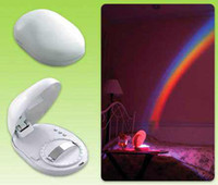 Wholesale New Arrival Mini Romantic LED Rainbow Projector Color Night Lamp Light Special gift