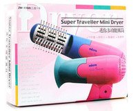 Wholesale Handy Foldable Hair Dryer Blower with Brush for Travel