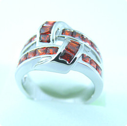 Free Shipping STUNNING 5.0CT RUBY 14KT WHITE GOLD RING -RW021