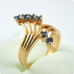 Brand New EXQUISITE 1.2CT SAPPHIRE 14KT YELLOW GOLD GEMSTONE RING -SY019
