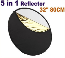"""32"""" 80cm 5 IN 1 Collapsible Light Reflector Photograp 80cm Collapsible Light Reflector"""