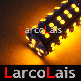 2Pcs 7440 7443 T20 68 SMD LED Brake Turn Light Bulb Amber 68-LED Lights Bulbs
