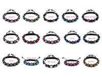 wholesale hematite jewelry - Handmade Jewelry Bling Bracelet Clay Crystal Hematite Beads Black Rope Mixed Colors Order x