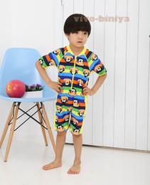 Wholesale b2w2 children cute boy monkey pattern piece swimsuit dandys