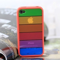 Wholesale iphone4s phone shell Apple shell sub silicone border protection personalization trend