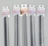 Wholesale 36PCS New Fancy Nail decals Nail Art Sticker Lace Line Seal White Black Flower D Nail Patch