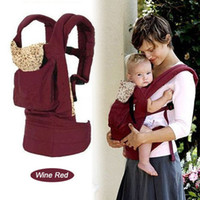 Front & Back Baby Carrier Infant Backpack Sling wine red...