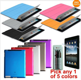 Wholesale Smart Cover for iPad ipad2 Soft tpu Partner Back Case Screen Protector Stylus