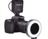 Wholesale Aputure AHL N60 LED Video Lights LED Photo flash light Ring Light Macro Flash for Nikon Canon