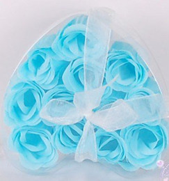 Wholesale washing cleaning bath rose Flower paper petals soap gift wedding favor mulit color two
