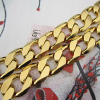 Wholesale Whoelsale K YELLOW GOLD FILLED MEN S NECKLACE quot CURB CHAINS g GF JEWELRY MM WIDTH free