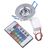 Wholesale RGB LED Bulbs W ceiling AC110V V AC85 V remote control Colors Changing Led lamp Blub