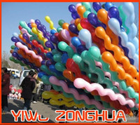 Wholesale Latex Colour Mixture Screw Balloon Spiral Balloons For Wedding Birthday Party
